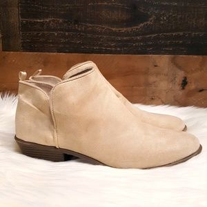 Gap Notch Slip on Ankle Booties in Sand